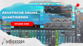 studio one akustik drums audio quantisieren
