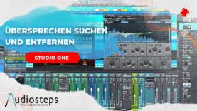 Studio One Übersprechen suchen und entfernen