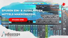 Studio One Spuren Einklappen Ausklappen Makro