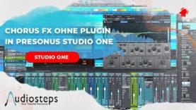 chorus fx ohne plugin in studio one